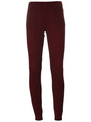 Joseph High Waisted Leggings Red