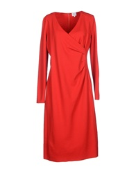 Armani Collezioni Knee Length Dresses Red