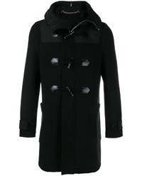 Givenchy Wool Blend Long Duffle Coat Black Denim