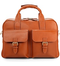 Aspinal Of London Harrison Leather Overnight Business Bag Tan