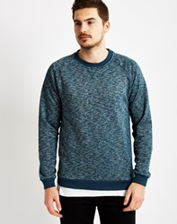 Only And Sons Mens Crew Neck With Space Died Melange Blue