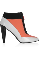 Kenzo Leather And Neoprene Ankle Boots