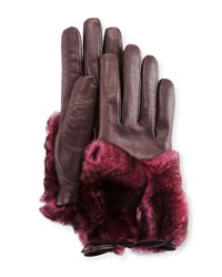 Imoni Leather And Rabbit Fur Gloves Galaxy Pink Galaxy Pink