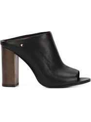 Vince Camuto Open Toe Mules Black