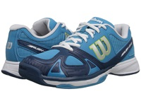 Wilson Rush Evo Teal Solar Lime Women's Tennis Shoes Blue