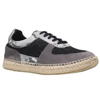 Kurt Geiger Lindon Lace Up Trainers Grey