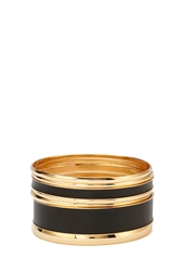Forever 21 Faux Leather And Metal Bangles