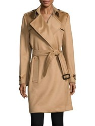 Burberry Tempsford Cashmere Wrap Trenchcoat Camel