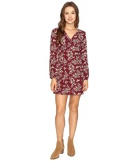 Lucy Love Castle Rock Dress Oxblood Women's Dress Red