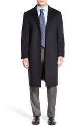 Hart Schaffner Marx 'Sheffield' Classic Fit Wool And Cashmere Overcoat Blue