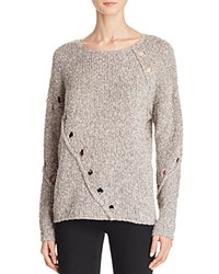 Aqua Grace Drop Stitch Crewneck Sweater Almond