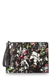 Mcq By Alexander Mcqueen Floral Printed Leather Clutch