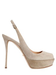 Sergio Rossi 120Mm Suede Slingback Sandals