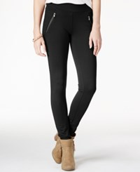 American Rag Ponte Zipper Leggings Only At Macy's Black