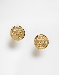 New Look Coin Stud Earrings Gold