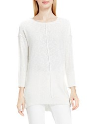 Vince Camuto Exposed Seam Crewneck Pullover White