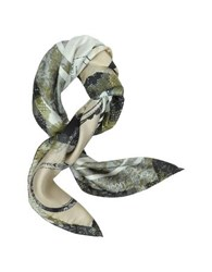 Jimmy Choo Lace And Shoes Printed Silk Square Scarf Black