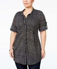 Styleandco. Style Co. Plus Size Check Print Tunic Shirt Only At Macy's Delicate Check