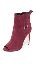 Rebecca Minkoff Ridley Open Toe Booties Dark Maroon