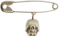 Givenchy Brass Blind Skull Safety Pin