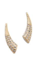 Rebecca Minkoff Safari Haze Ear Tusk Gold Crystal