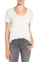 Treasure And Bond Women's Scoop Neck Burnout Tee