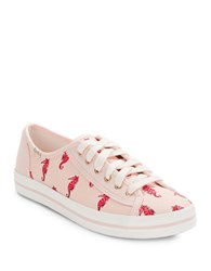 Kate Spade Sea Horse Lace Up Sneakers Pink