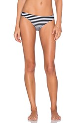 Nookie Sailor Stripe Bikini Bottom Black And White