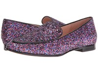 Kate Spade Calliope Purple Multi Glitter Black Nappa Women's Shoes