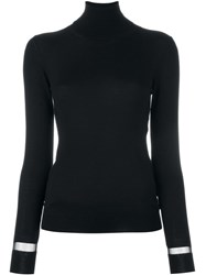 Lanvin Sheer Detail Jumper Black