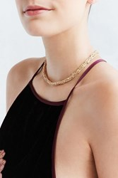 Urban Outfitters Glitz Short Chain Necklace Gold