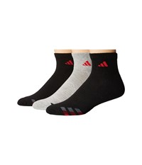 Adidas Cushioned Color 3 Pack Quarter Black Heather Grey Ray Red Collegiate Burgundy Onix Men's Quarter Length Socks Shoes Multi