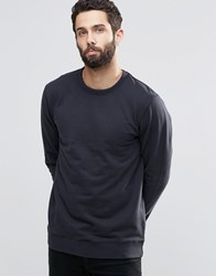 Only And Sons Crew Neck Sweatshirt With Ribbed Neck Dark Navy