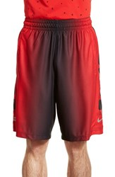 Nike Men's 'Elite Stripe' Dri Fit Basketball Shorts Black Black Metallic Silver