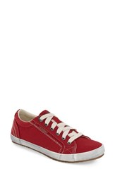 Women's Taos 'Star' Sneaker Red Canvas