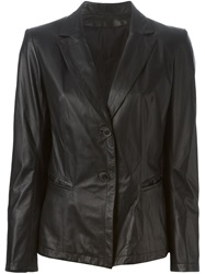 Sylvie Schimmel Leather Blazer Black