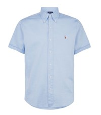 Polo Ralph Lauren Short Sleeve Logo Shirt Male Light Blue