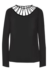 Cushnie Et Ochs Silk Chiffon Top Black
