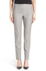 Petite Women's Nic Zoe 'The Perfect' Side Zip Ankle Pants Ash