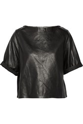 Isabel Marant Feza Leather Top Black