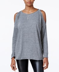 Rachel Roy Cold Shoulder Top Only At Macy's Charcoal