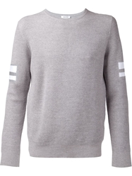 Tim Coppens Striped Sleeve Sweater Grey