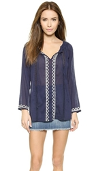 Soft Joie Drasti Embroidered Tunic Peacoat Porcelain