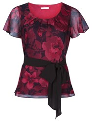 Jacques Vert Cationic Rose Top Red