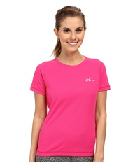 Cw X S S Ventilator Mesh Top Pink Women's Short Sleeve Pullover