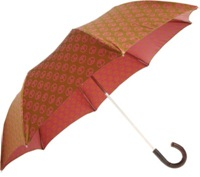 Barneys New York Peace Sign Folding Umbrella Pink