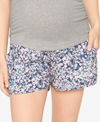 A Pea In The Pod Printed Maternity Shorts Floral Print