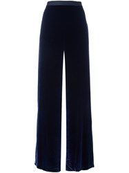 Alexander Wang T By Velvet Palazzo Pants Blue