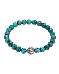 Turquoise Large Beaded Bracelet John Hardy Blue