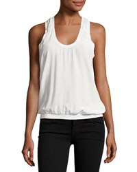 Joie Mal Silk Tank Top White